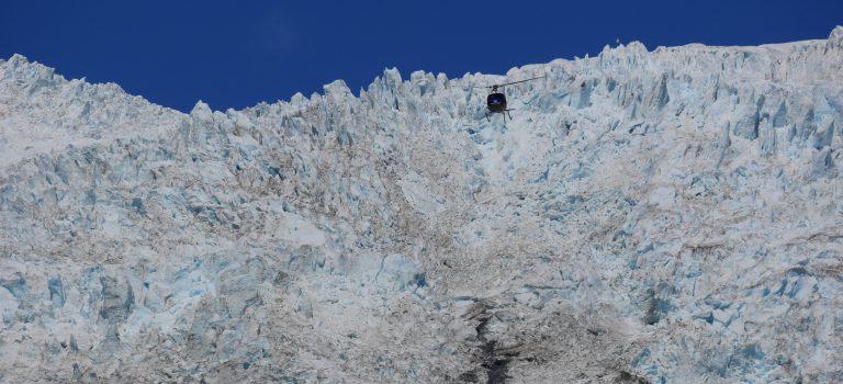 Au pied du glacier Franz Joseph