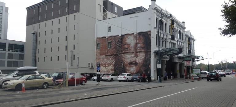 La tête en bas à Christchurch